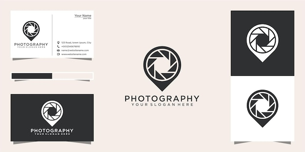 Fotografie standort logo design und visitenkarte