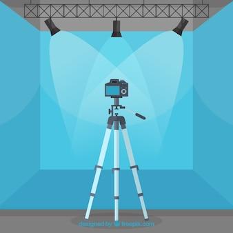 Fotografie-studio mit blauer farbe