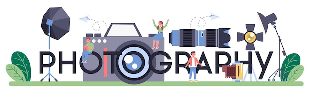 Fotografie typografische header-illustration
