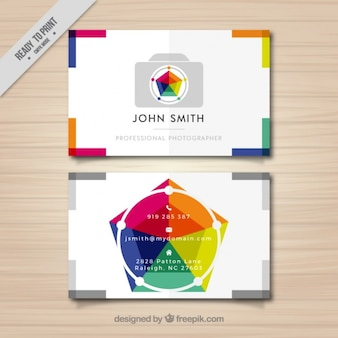 Fotografie visitenkarte voller farbe