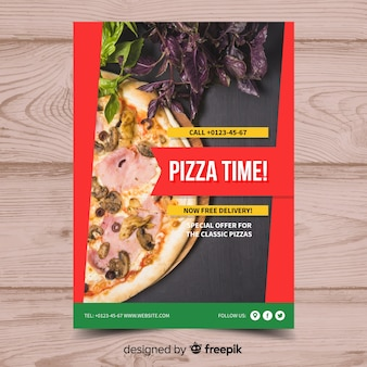 Fotografische pizza-plakatschablone
