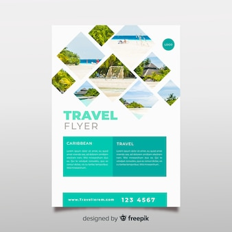 Fotografische reiseplakatschablone