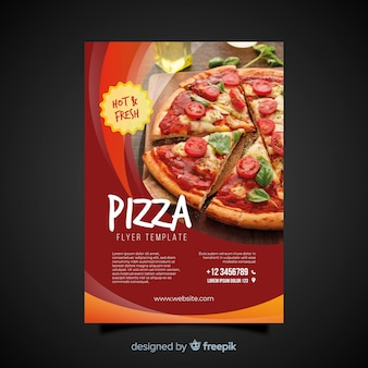 Fotografischer pizza-flyer