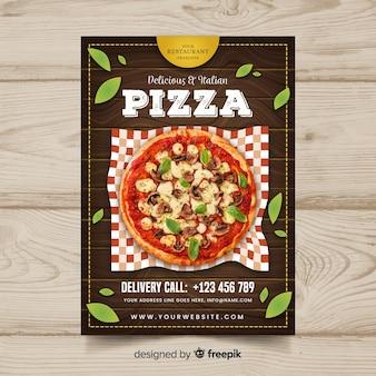 Fotografischer pizza-restaurant-flyer
