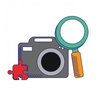 Fotokamera mit lupe