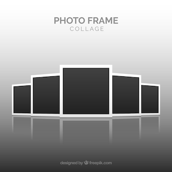 Fotorahmen collage konzept