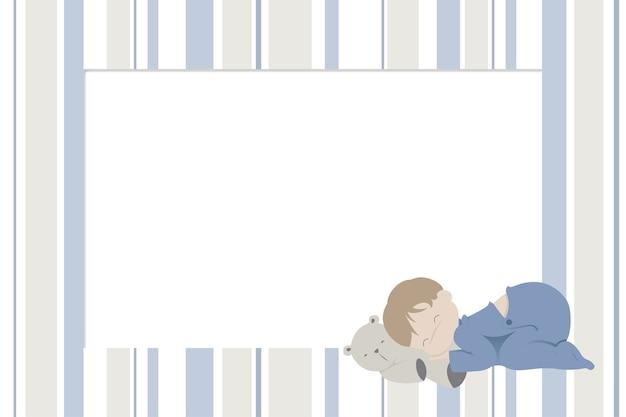 Fotorahmen mit kinder-design für neugeborene