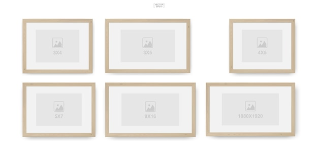 Fotorahmen oder bilderrahmen aus holz für innenarchitektur und dekoration