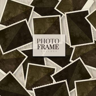 Fotorahmencollage in der realistischen art