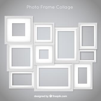 Fotorahmencollage mit flachem design