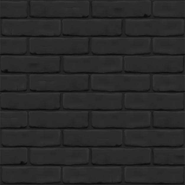 Fotorealistische textur der schwarzen backsteinmauer als hintergrund. mauerwerk nahaufnahme für außen, innen, website, hintergrund. nahtloses muster.