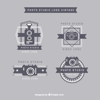 Fotostudio logos vintage-kollektion