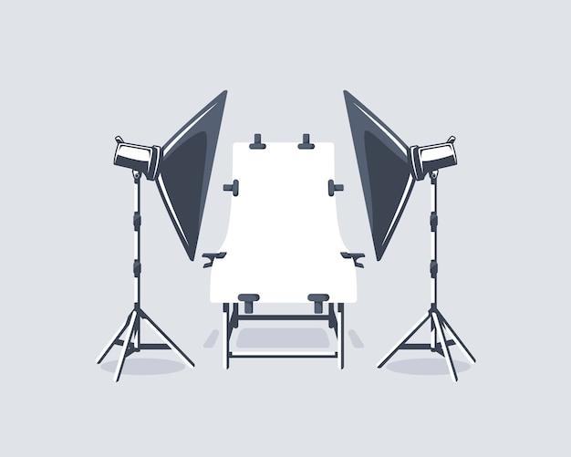 Fotostudioelement isoliert.