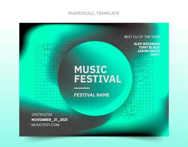 Fototermin für musikfestival mit farbverlauf
