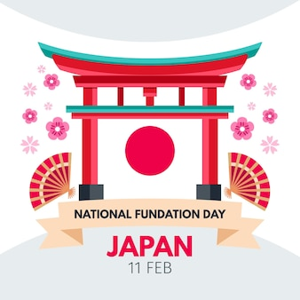 Foundation day japan flaches design