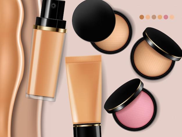 Foundation und rouge kosmetik