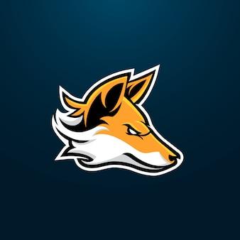 Fox esport gaming maskottchen logo design
