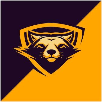 Fox head logo für sport- oder esportmannschaft.