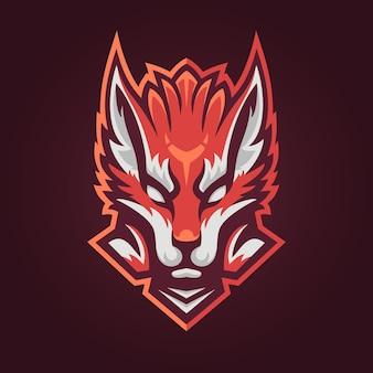Fox head maskottchen logo für esport und sportmannschaft