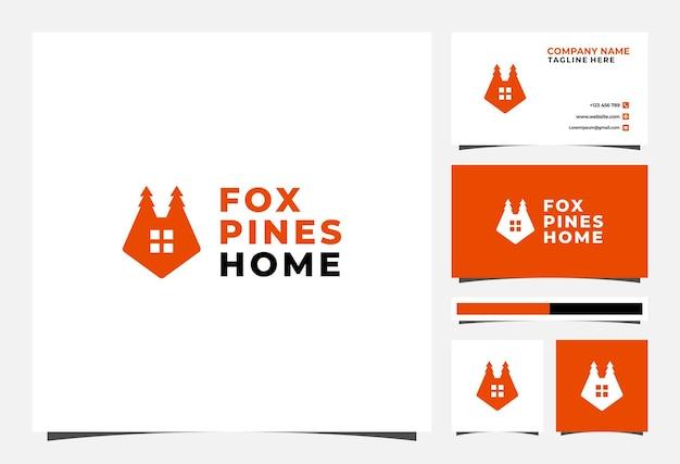 Fox home pine logo und visitenkarte