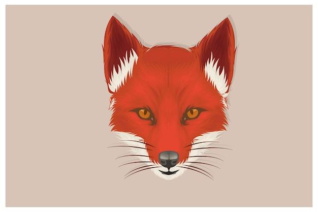 Fox illustration ist nur ein handgezeichneter kopf