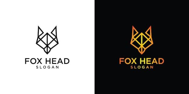 Fox kopf einzigartige elemente logo-design