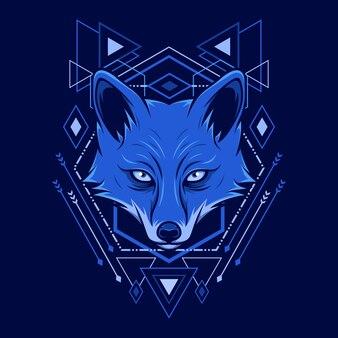 Fox kopf geometrie stil illustration