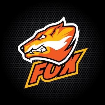 Fox kopf von der seite. kann für vereins- oder teamlogo verwendet werden.