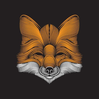 Fox linie kunstillustration