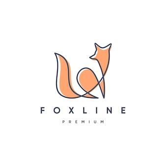 Fox linie logo vorlage Premium Vektoren