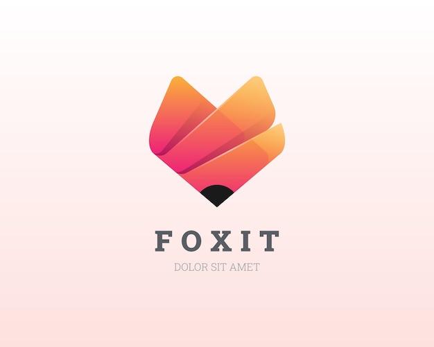 Fox-logo. einfache bunte fuchslogoikone