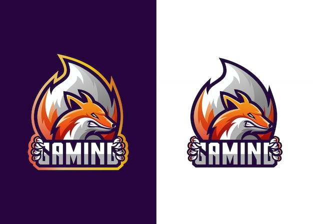 Fox logo gaming-vorlage