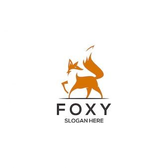 Fox logo-konzept
