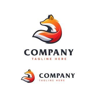 Fox logo vorlage ilustration symbol