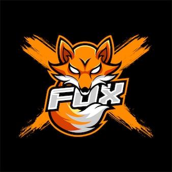 Fox maskottchen esport logo
