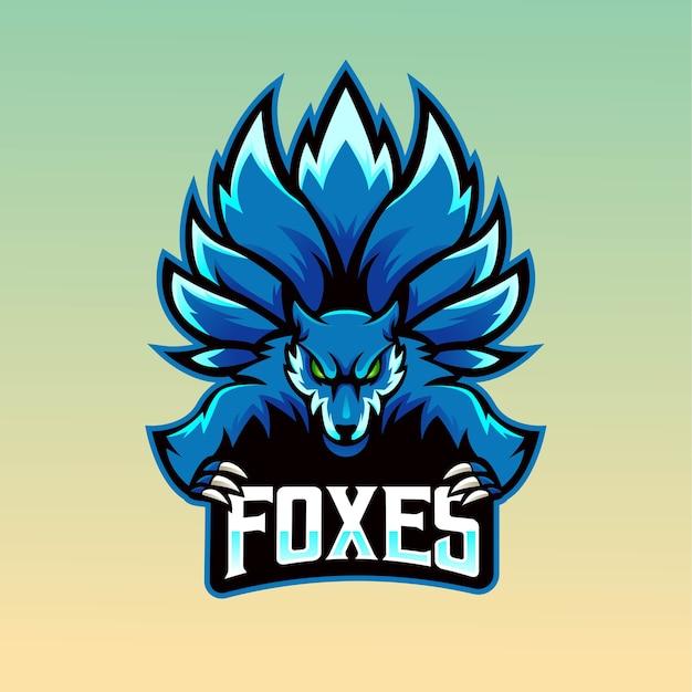 Fox maskottchen logo design mit modernen illustration konzeptstil