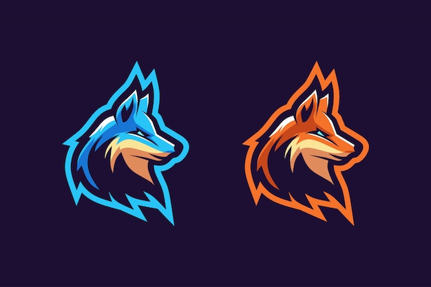 Fox maskottchen logo option farbe