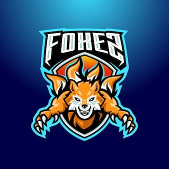 Fox-maskottchen-logo