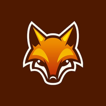 Fox maskottchen-logo