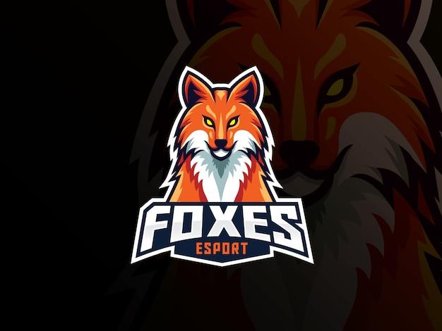 Fox maskottchen sport logo design