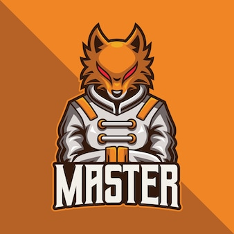 Fox master esport logo gaming