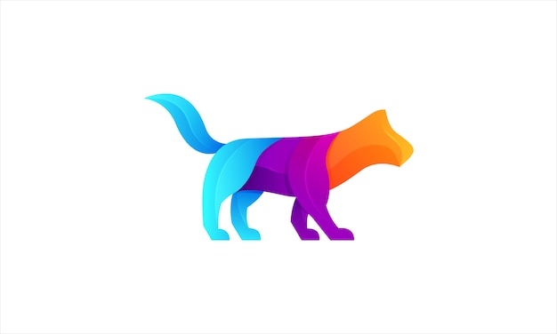 Fox modern gradient buntes logo