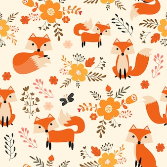 Fox-mustergewebe