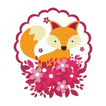 Fox nur gesicht runde symbol runde symbol