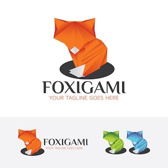 Fox-origami-logo-vorlage