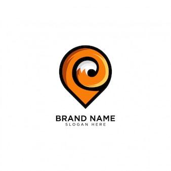 Fox pin logo design