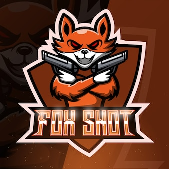 Fox shoot maskottchen sport illustration