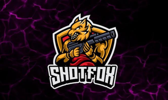 fox soldier gaming maskottchen und sport logo vorlage
