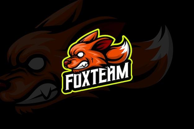 Fox team - esport-logo-vorlage
