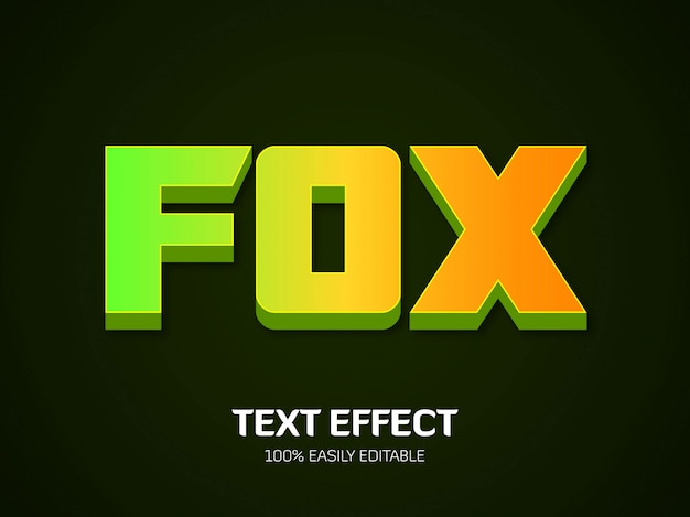 Fox text-effekt. schriftstil